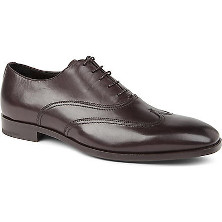 ERMENEGILDO ZEGNA Wing cap Oxford shoes (Brown