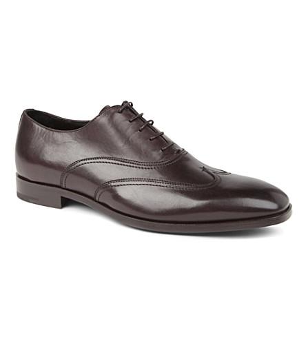 ERMENEGILDO ZEGNA Wing cap Oxford shoes (Brown