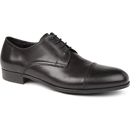 ERMENEGILDO ZEGNA Toe cap Derby shoes (Black