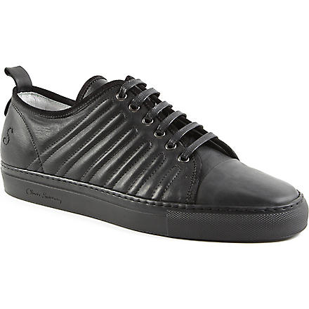 OLIVER SWEENEY Fiano leather trainers (Black