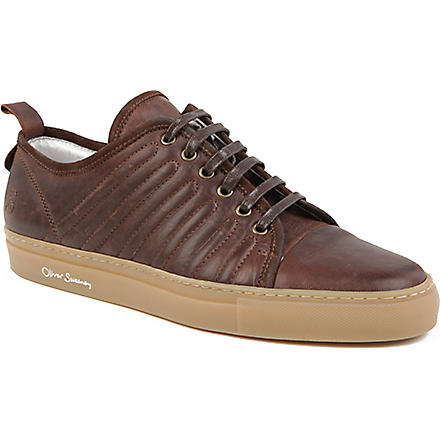 OLIVER SWEENEY Fiano leather trainers (Wine