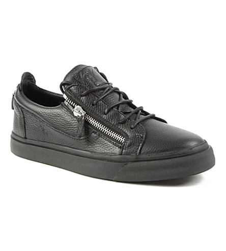 GIUSEPPE ZANOTTI Zip-lo trainers (Black