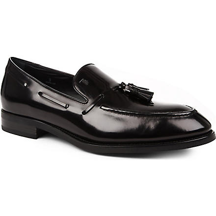 TODS Tasselled apron loafers (Black