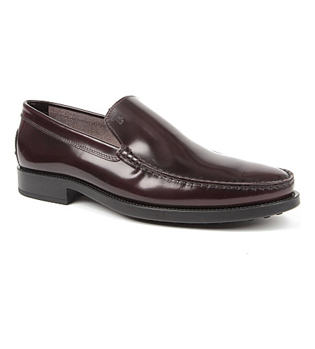 TODS Slip-on loafers (Wine