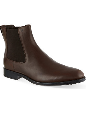 TODS Leather ankle boots