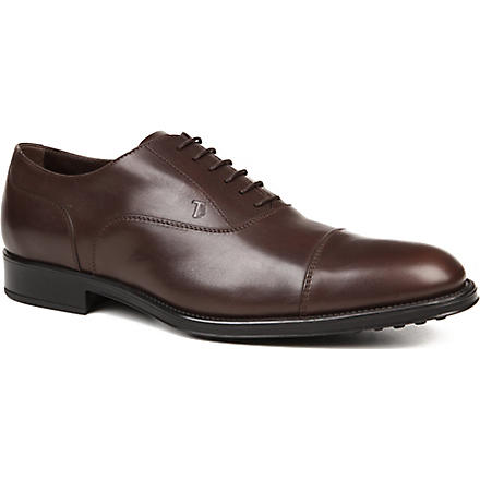 TODS Leather Lace-up Shoes (Brown