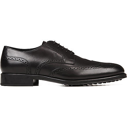 TODS Wingcap Derby shoes (Black