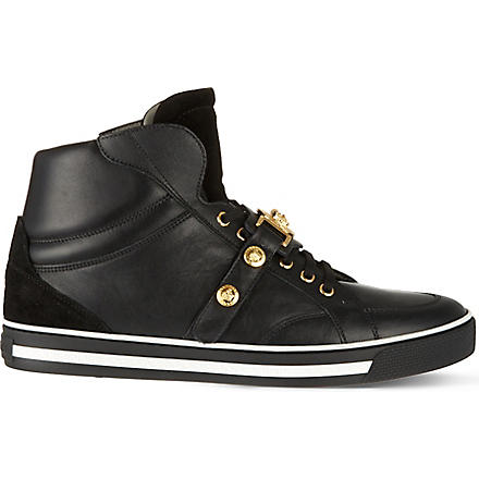 VERSACE Medusa strap high tops (Black