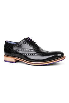 TED BAKER Rissh high shine wingcap brogues