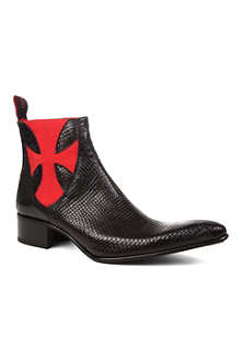 JEFFERY WEST Dragon python-print boots