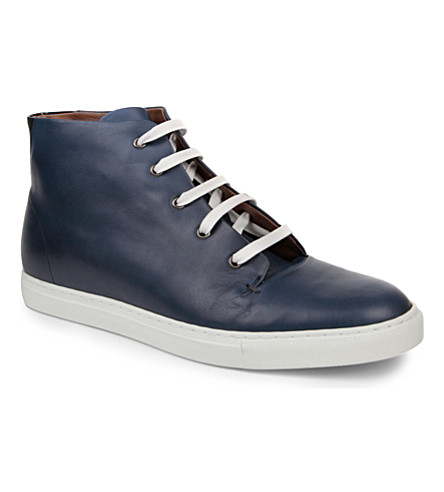 KURT GEIGER Booth leather high tops (Navy
