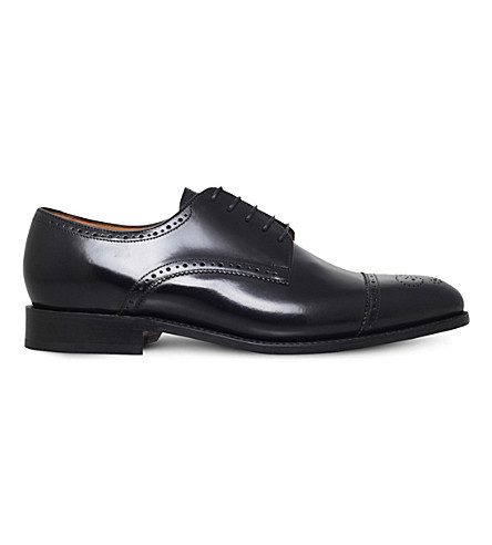 BARKER Perth leather brogues (Black