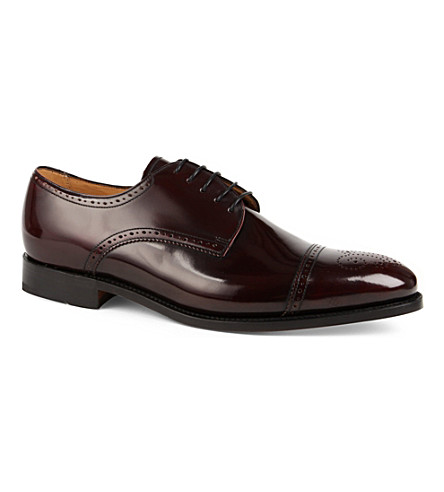 BARKER Perth leather brogues (Wine