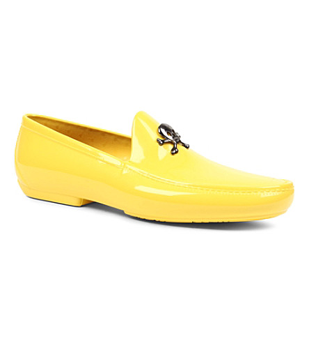 VIVIENNE WESTWOOD Skull and crossbone loafers (Yellow