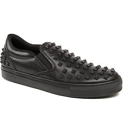 VALENTINO Studded slip-on trainers (Black