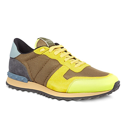 VALENTINO Plain running trainers (Yellow
