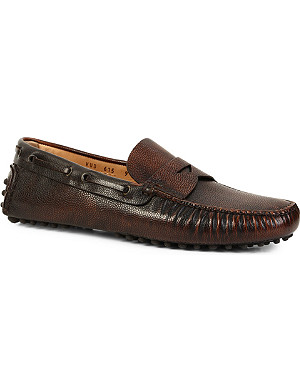 CARSHOE Penny leather driving shoes