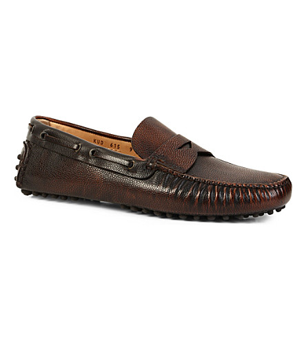 CARSHOE Penny leather driving shoes (Brown