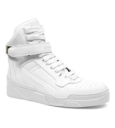 GIVENCHY Leather high-top trainers (White