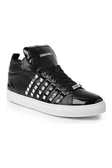 D SQUARED USA studded hi-top trainers