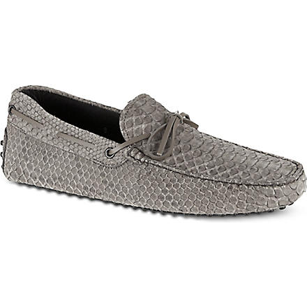 TODS Gommino heaven driving shoes in python (Grey