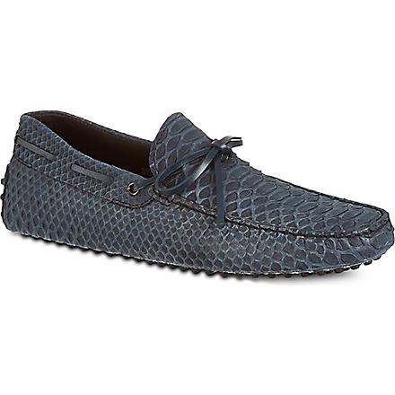 TODS Gommino heaven driving shoes in python (Blue