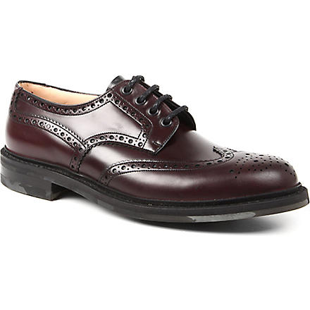 CHURCH Foden camo sole wingcap Derby shoes (Wine