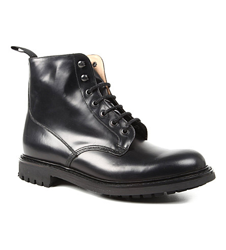 CHURCH Derby leather ankle boots (Black