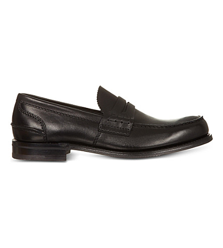 CHURCH Pembrey leather penny loafer (Black