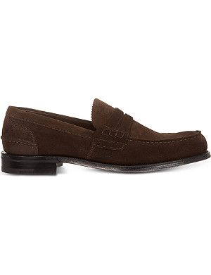 CHURCH Pembrey suede penny loafers