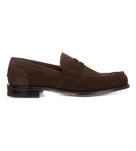 CHURCH Pembrey suede penny loafers (Brown