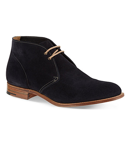 CHURCH Sahara suede chukka boots (Navy