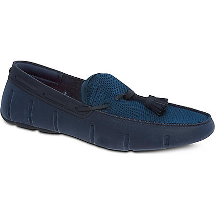 SWIMS Tassel driver shoes (Navy