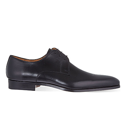 MAGNANNI Plain leather Derby shoes (Black