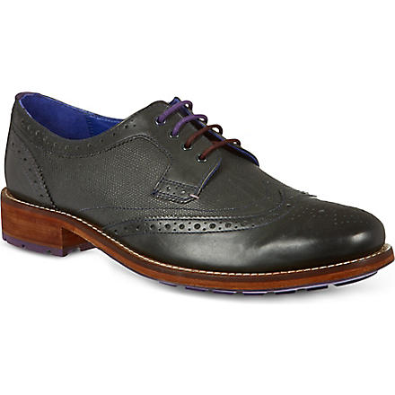 TED BAKER Cassius 3 Wingcap Derby shoes (Grey/dark