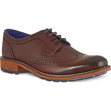TED BAKER Cassius 3 wingtip derby shoes (Red/dark