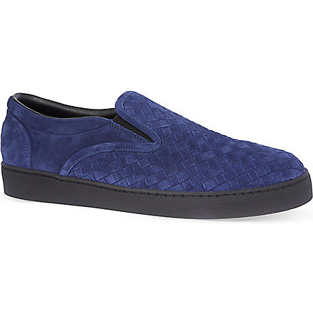 BOTTEGA VENETA Dodger suede slippers (Blue
