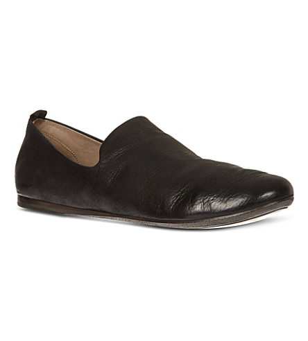 MARSELL Strapiatta leather slippers (Black