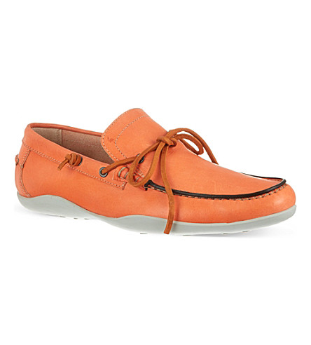 HARRYS OF LONDON Hansel leather loafers (Orange