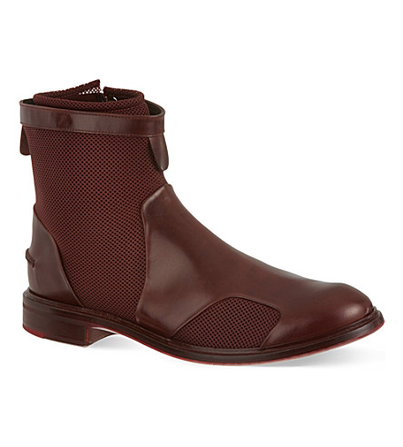 PAUL SMITH Morrison mesh chelsea boots (Wine