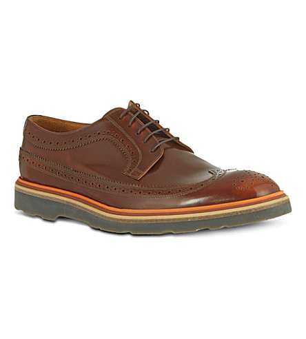 PAUL SMITH Grand wingcap brogues (Tan