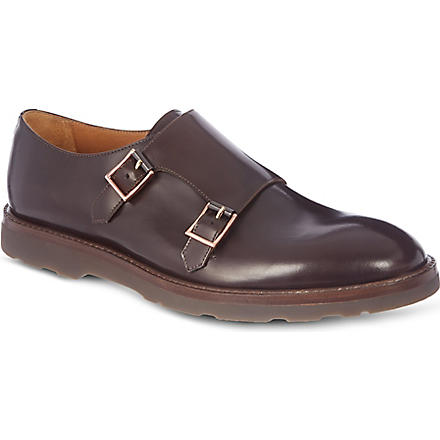 PAUL SMITH Pitt double-buckle monk shoes (Brown