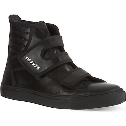 RAF SIMONS Classic Flap high-tops (Black