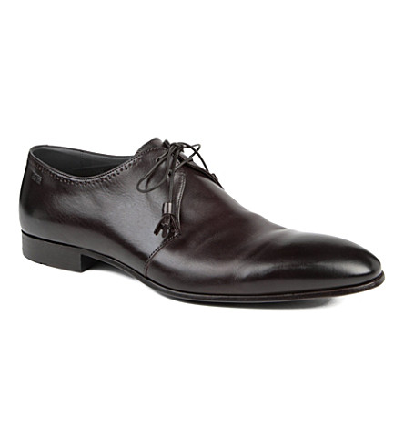 HUGO BOSS Wintio punch Derby shoes (Brown