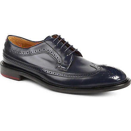 PAUL SMITH Lincoln longwing Derby shoes (Navy