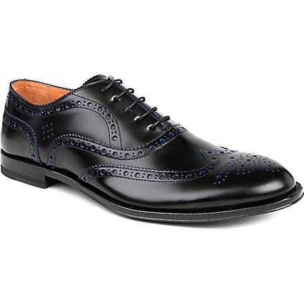 PAUL SMITH Jacob contrast wingcap brogues (Black