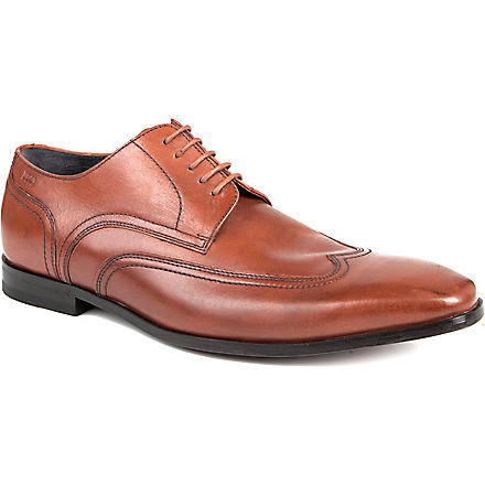 HUGO BOSS Konio wingtip Derby shoes (Tan