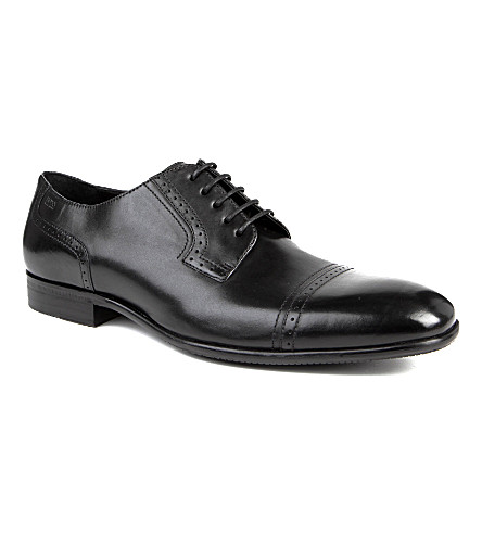 HUGO BOSS Dresion toe-cap Derby shoes (Black