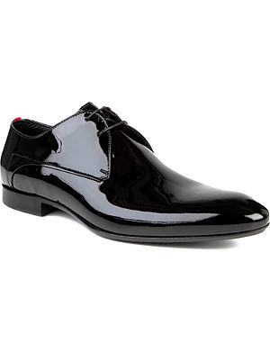 HUGO BOSS Evimio patent Derby shoes
