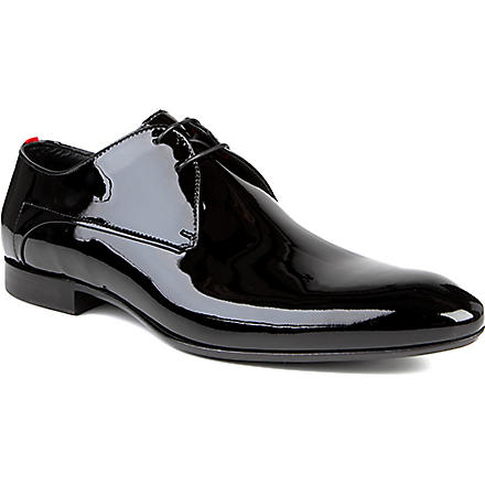 HUGO BOSS Evimio patent Derby shoes (Black